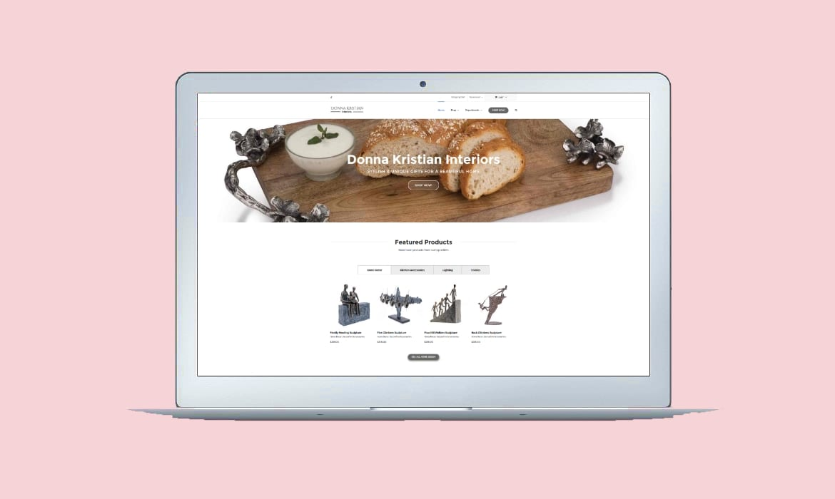 Portfolio example of a web design for derby & burton on trent ecommerce online shop company