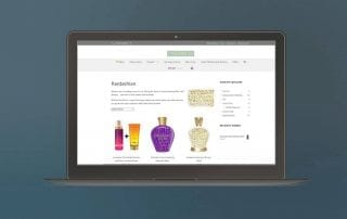 portfolio example of website design for Sundial Online Shop website